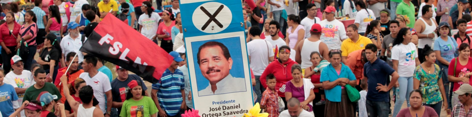 According to recent polls, Nicaragua's President Daniel Ortega has nearly 70 percent support [Oswaldo Rivas/Reuters]