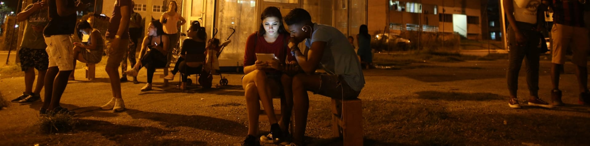 Home connections continue to be illegal for most Cubans [Alexandre Meneghini/Reuters]