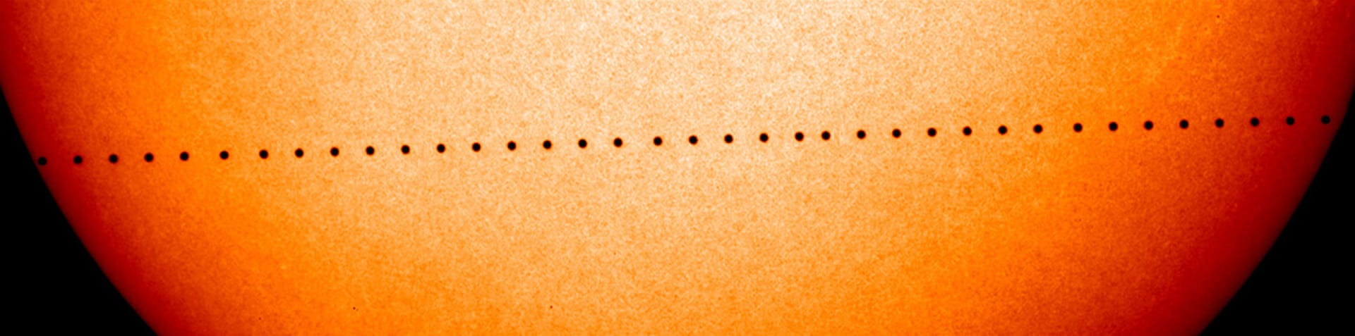 Mercury will next pass directly across the face of the Sun in 2019, and then not until 2032 [NASA]