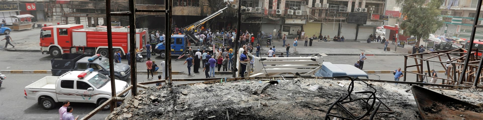 The death toll from the car bombing attack in Karada rose to 250 [Ahmed Saad/Reuters]