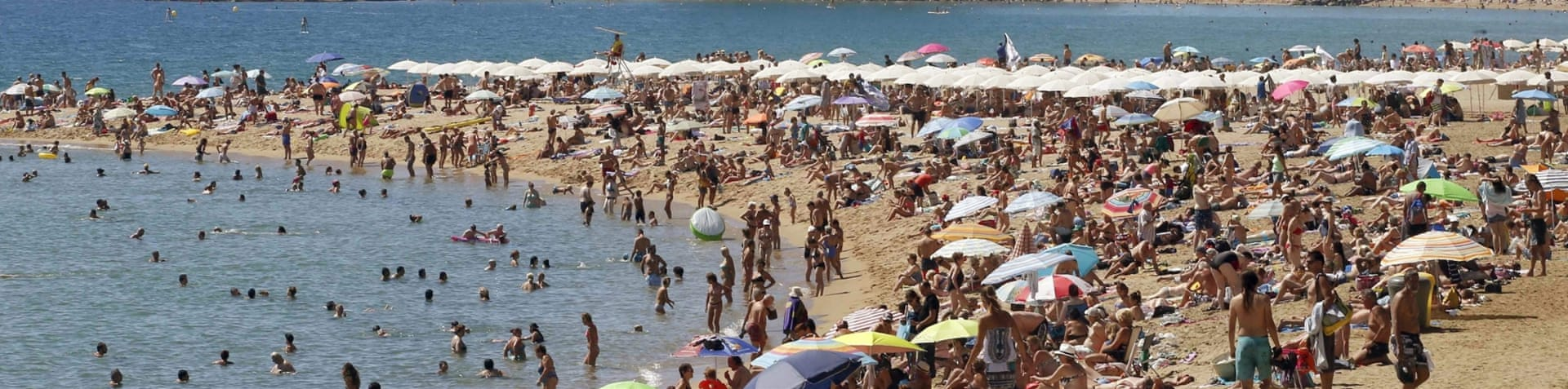 Northern summer temperatures usually tend to peak during the month July [Andreu Dalmau/EPA]