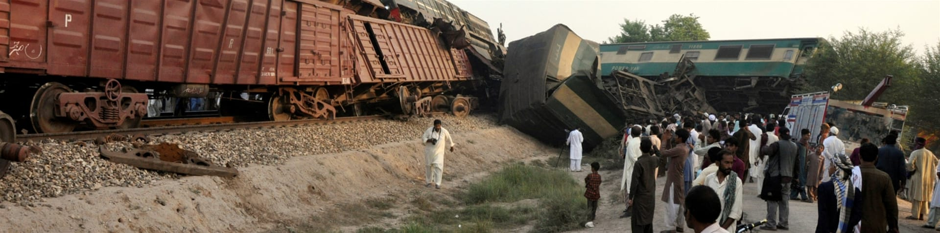 A railway official blamed the accident on the passenger-train driver [Reuters]