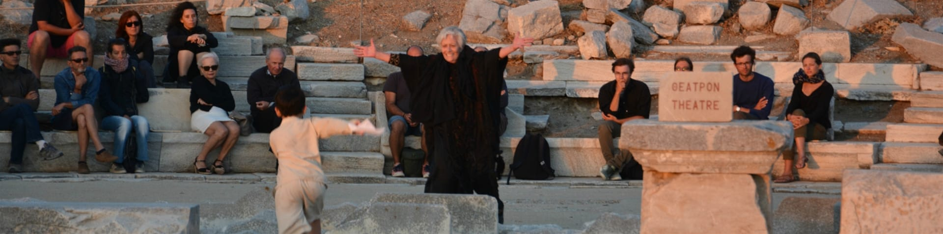 """Hecuba, a refugee"" is performed on the Greek island of Delos [Department of antiquities of the Cyclades/Al Jazeera]"