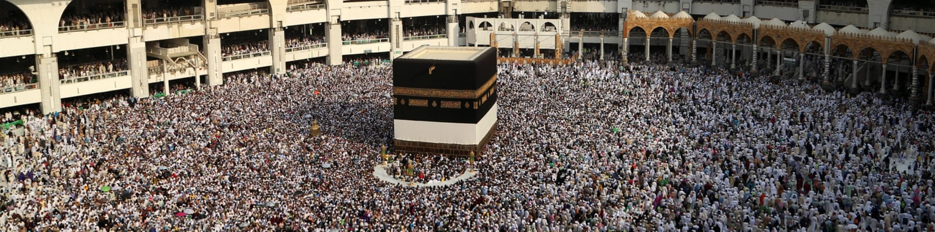 Pilgrims circle the Kaaba at the Grand Mosque in Mecca on September 9 [Reuters]