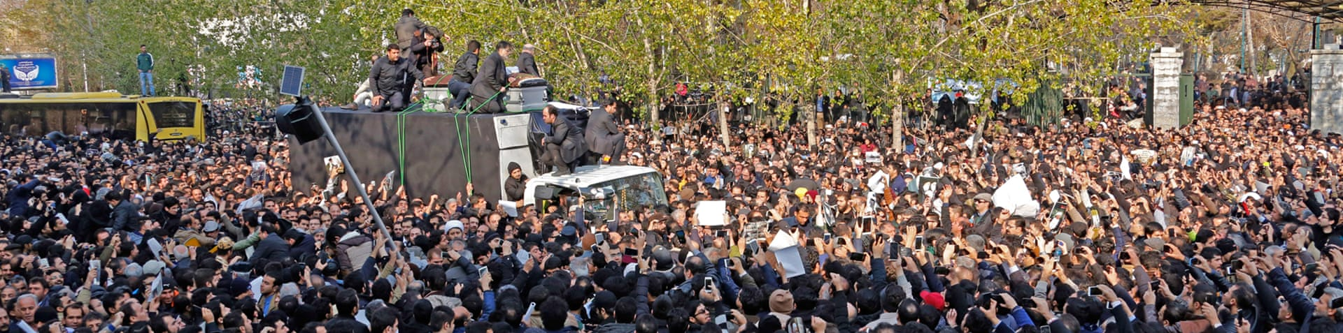 Some reports said up to 4.5 million people attended Rafsanjani's funeral on Tuesday [AFP]