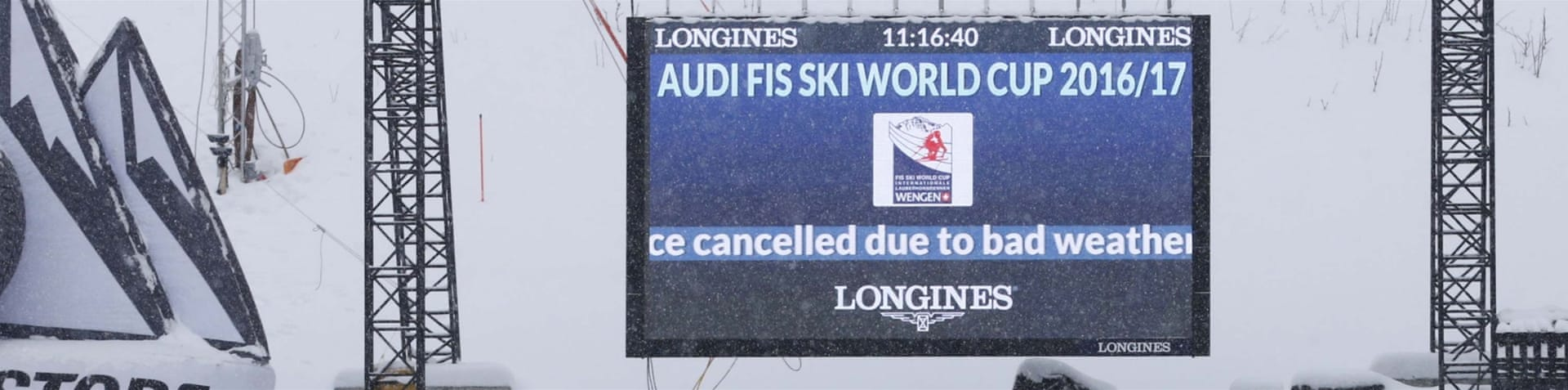 Alpine ski resorts plagued by lack of snow - The Cancellation Follows Concerns About A Lack Of Snow Both At Wengen And Across The