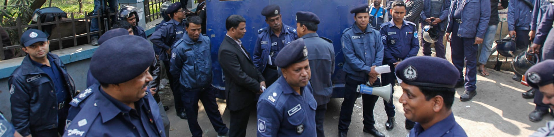 Nur Hossain has been accused of paying paramilitary men to kill a political and business rival, Nazrul Islam in April 2014 [Mahmud Hossain Opu/Al Jazeera] [Al Jazeera]
