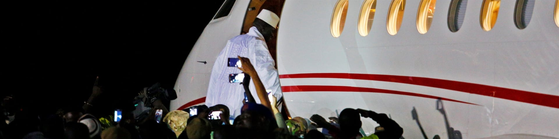 Jammeh flew into exile in Equatorial Guinea [Thierry Gouegnon/Reuters]