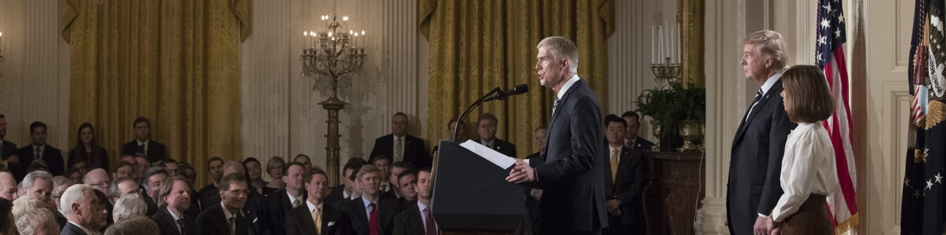 Trump named Gorsuch as his nominee to fill the vacancy left after the death of conservative justice Anthony Scalia [EPA]