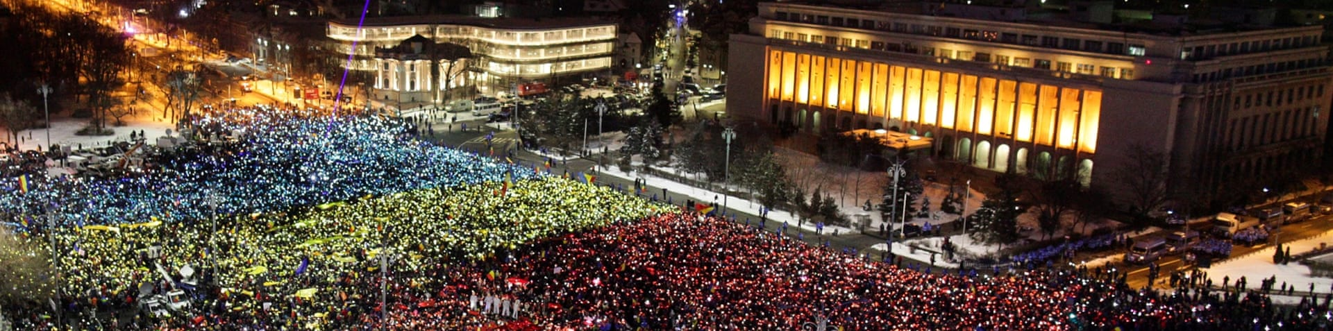 Protesters are calling for a new style of governance in Romania [EPA]
