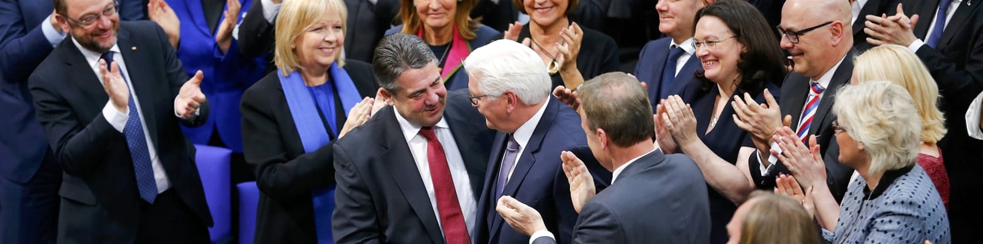 Steinmeier received 931 of the 1,260 votes [Fabrizio Bensch/Reuters]