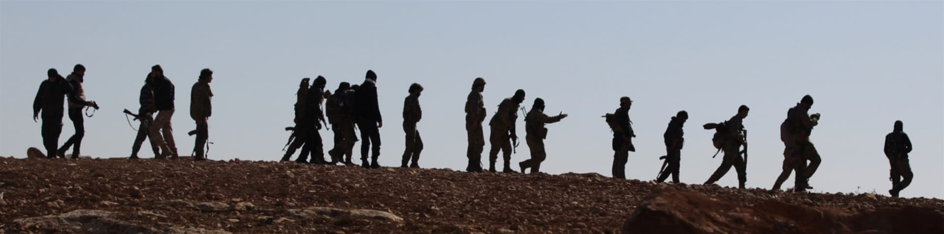 Syrian Democratic Forces (SDF) gather in northern Deir Az Zor province in advance of an offensive against ISIL [Rodi Said/Reuters]