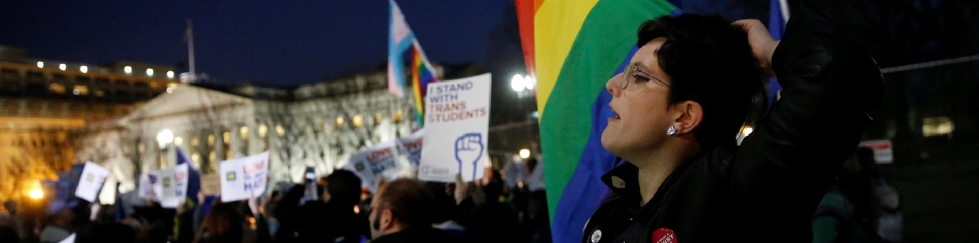 The Obama administration has been saying that prohibiting transgender students from using facilities that reflect their gender identity violates federal anti-discrimination laws [Jonathan Drake/Reuters]