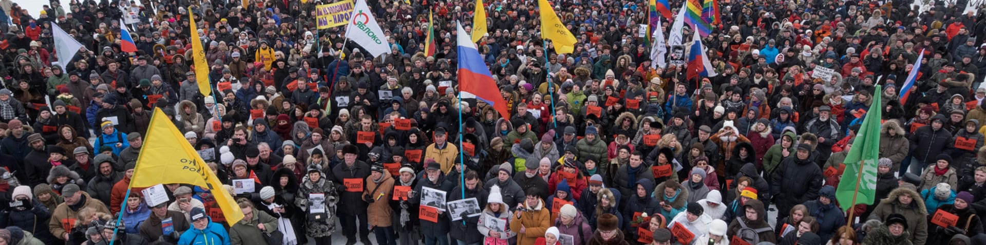 St Petersburg was one of the cities that saw Sunday's rallies [Dmitri Lovetsky/AP]