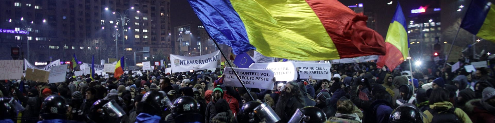 Tens of thousands of protesters have marched in recent days across Romania [Stoyan Nenov/Reuters]