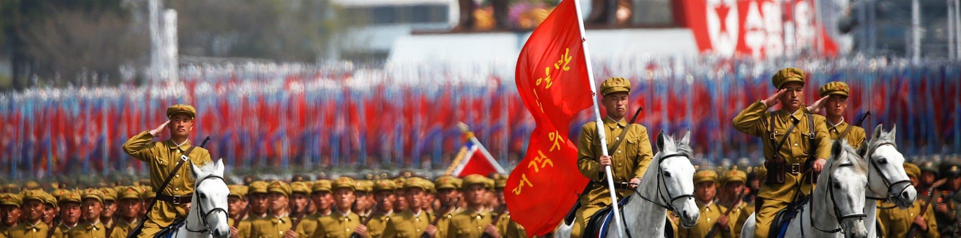 North Korea showcases new missiles at military parade