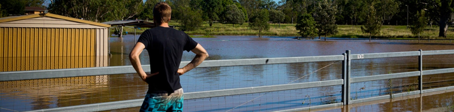 Flood waters were expected to peak at around nine metres in Rockhampton on Wednesday [AFP]