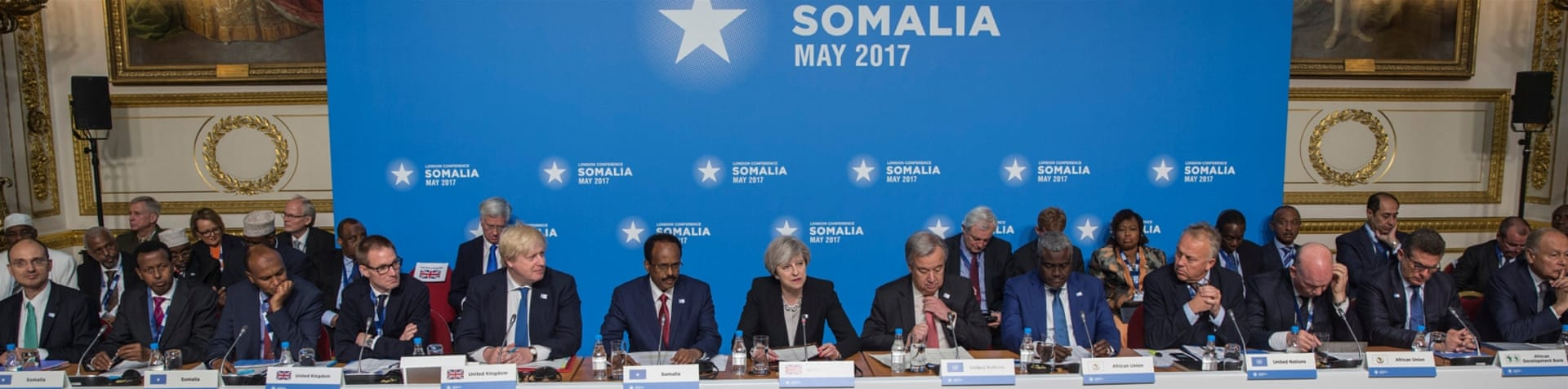 Farmajo co-chaired the conference on Somalia in UK's capital, London [Jack Hill/Reuters]