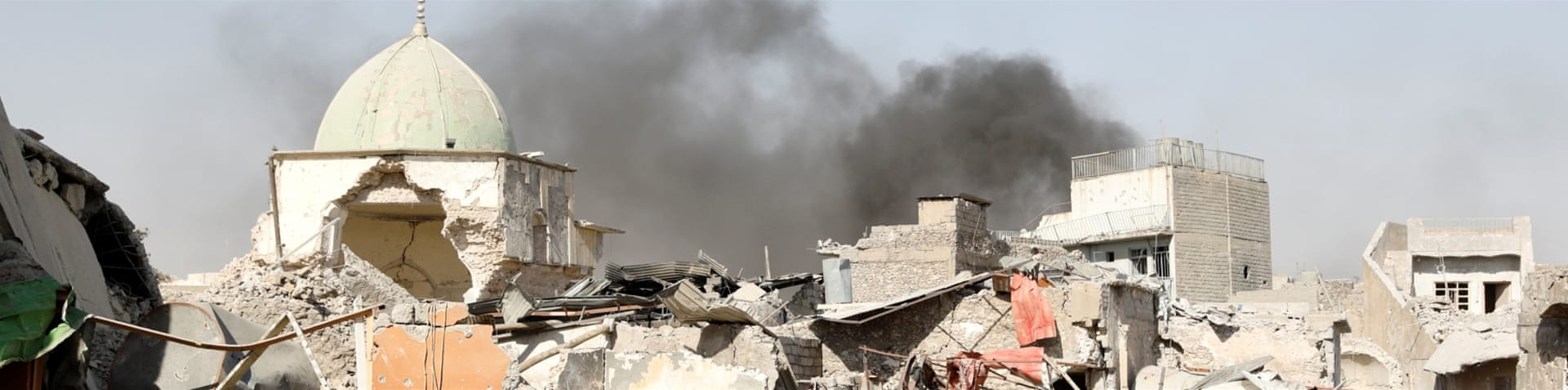 A large part of the mosque was blown up by ISIL last week [Reuters]