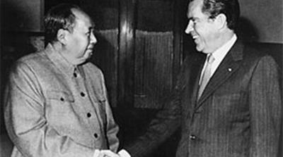President Nixon meets with China's Communist Party Leader, Mao Tse- Tung, 02/29/1972