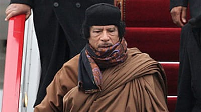 Gaddafi in Moscow for arms talks