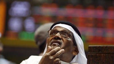 Gulf Arab stocks fall sharply