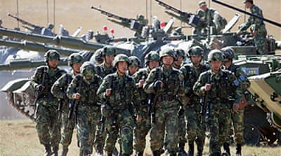 China increases military spending
