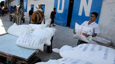 UN says Gaza running out of food