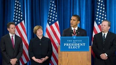 Obama names economic team