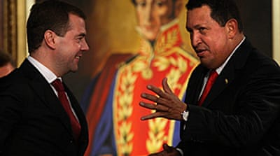 Medvedev and Chavez in nuclear deal