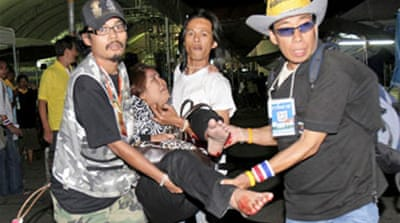 Grenade thrown at Thai protesters