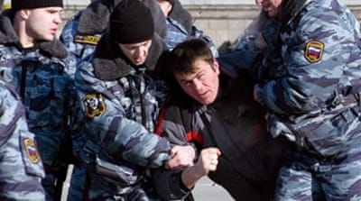 Russia police quash anti-tax rally