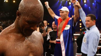 Holyfield title dream shattered