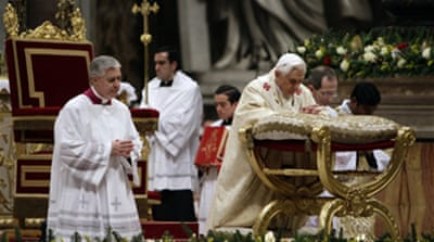 Pope prays for Middle East peace
