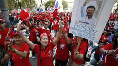 Protesters blockade Thai parliament
