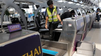 Bangkok airport back in business