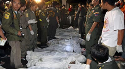 Scores die in Thai nightclub fire