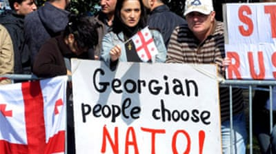 Georgian leader upbeat on Nato bid