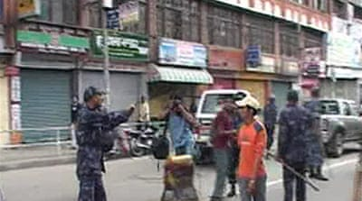 Nepalese protest against fuel price
