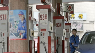 Fuel prices soar in China