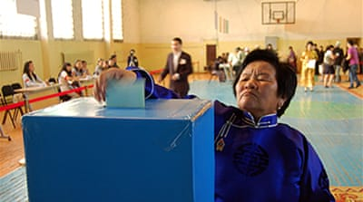 Mongolian voters head to the polls