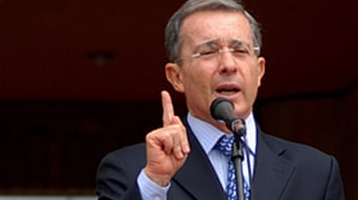 Uribe seeks US troops pact support