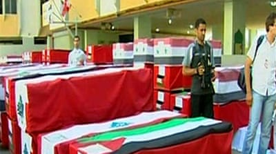 Lebanese funeral held for fighters