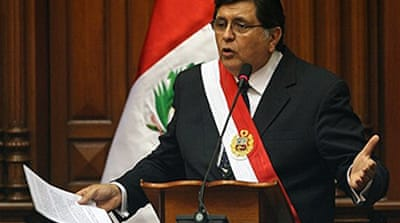 Peru president 'losing support'