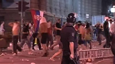 Video: Karadzic supporters riot