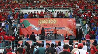Malaysians protest over fuel hikes