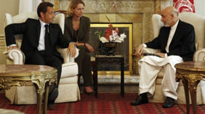 Sarkozy visits Kabul after ambush