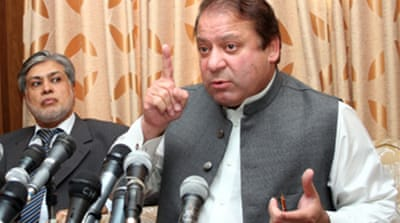 Sharif accepts Zardari on condition