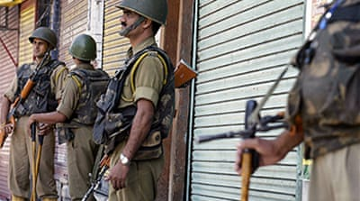 Curfew in Kashmir city