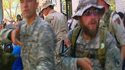Video: US Iraq veterans protest